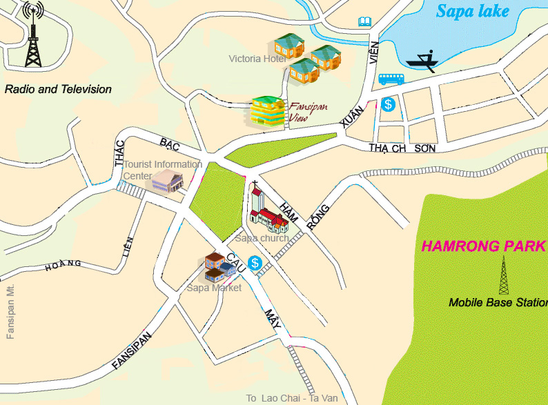Map of Fansipan View Hotel